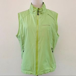 Vineyard Vines Reflective Zip Vest Size L Green